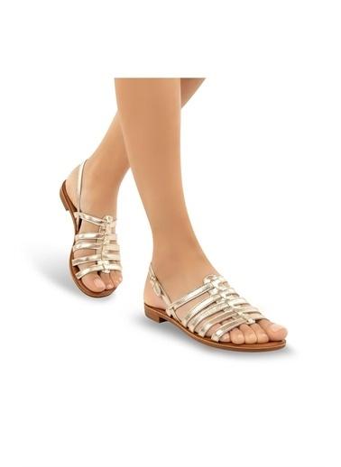 Muya Madaleine Anatomik Kadın Sandalet Altın